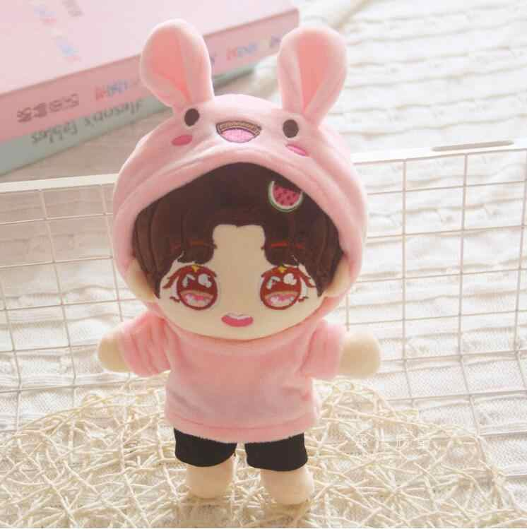 20cm Insan bebek peluş oyuncak Idol pop Idol bebek Erkek bebek doldurulmuş oyuncak Yastık Süper yıldız bebek Erkek Yumuşak Bebek Oyuncak noel hediyesi
