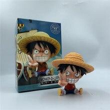 Een Stuk Luffy Ace Mooie Kindertijd Tand Zitten Pvc Actiefiguren Op Luffy dan Gebaar Collectibles Model Speelgoed 10Cm