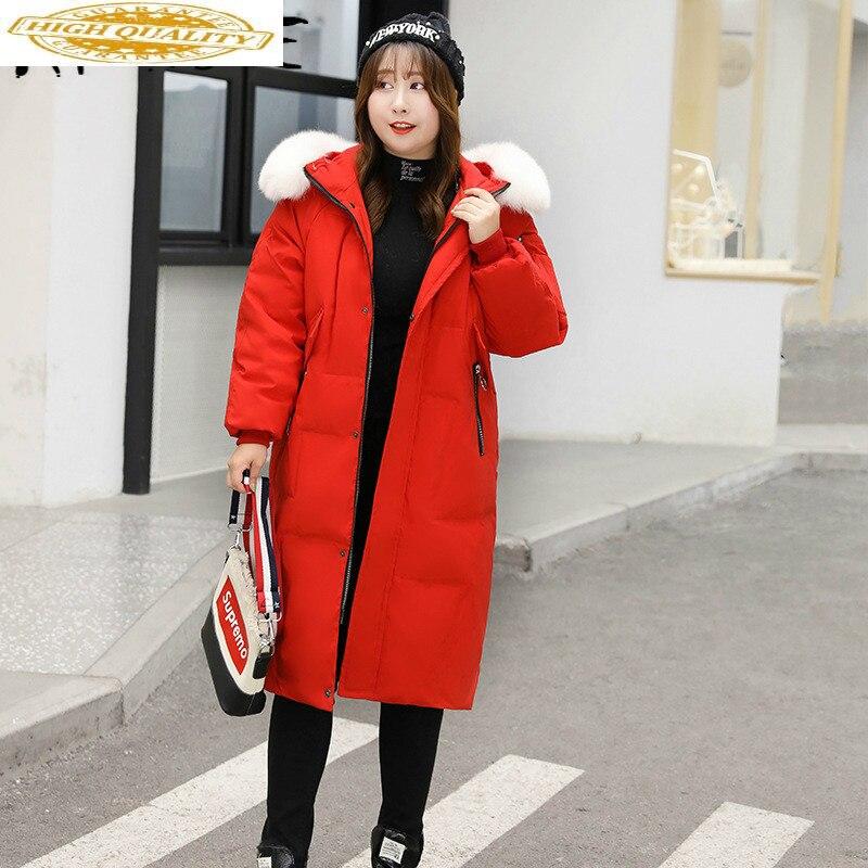 White Duck Down Coat Plus Size Jacket Women Winter Down Jacket Women Korean Puffer Jacket Chaqueta Mujer 802 YY1265