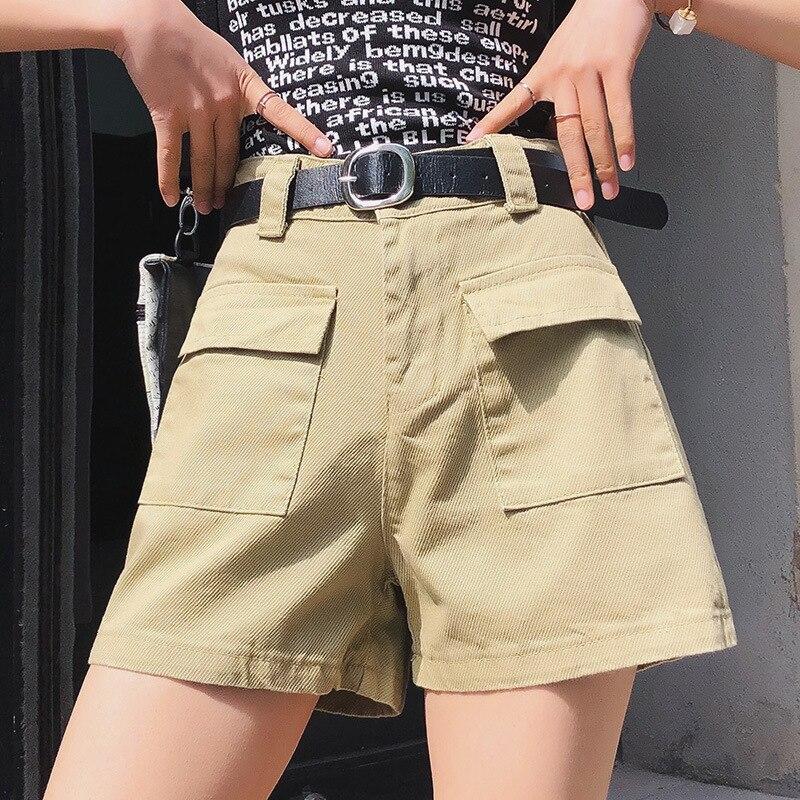 2020 Shorts Female Casual Vintage  Gray  Women Jeans Shorts Tassel Denim Shorts Wash Jeans