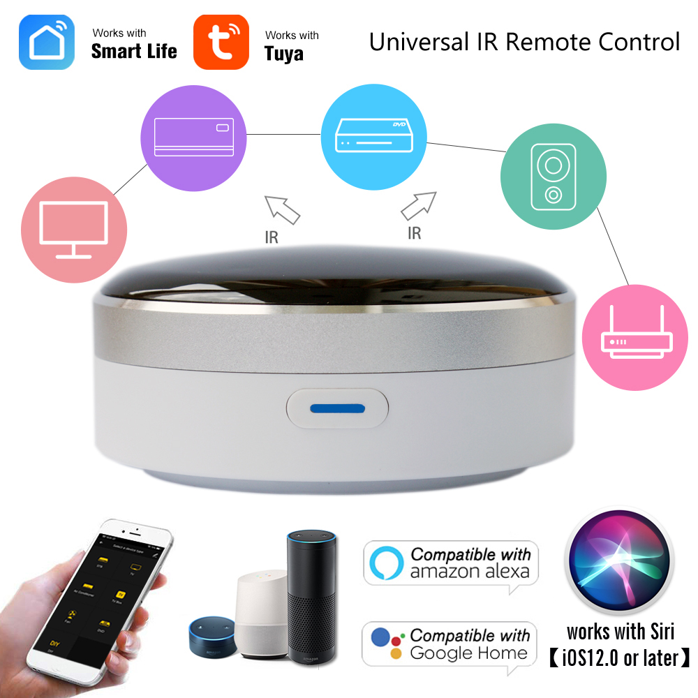 Smart IR Controller Smart Home Blaster Infrared Wireless Remote Control via Smart Life Tuya APP Work with Alexa Google Home Siri(China)