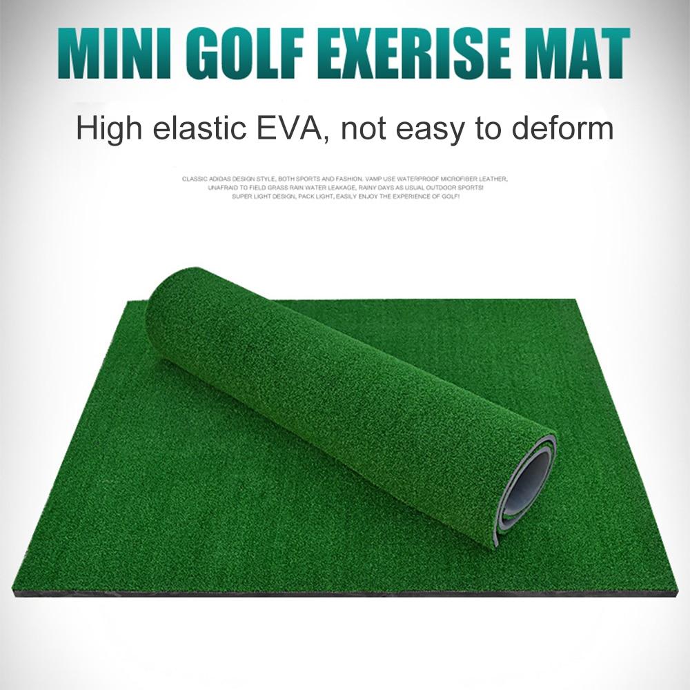 Golf Practice Hitting Mat Rubber Tee Holder Realistic Grass Putting Mats Portable Outdoor Sports Golf Training Turf Mat