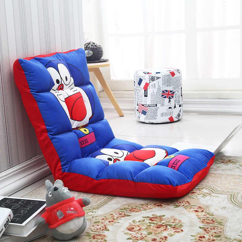 110*52*13cm 만화 어린이 소파 거실 소파 바닥 게임 의자 접는 Adjustab 잠자는 소파 침대 어린이 가구