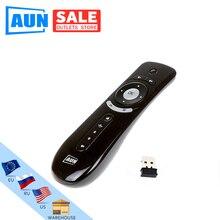 Aun 미니 플라이 에어 마우스 2.4g 무선 원격 안드로이드 tv 박스, 안드로이드 프로젝터 모션 감지 게임 BBDFS 1