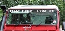 Para defender pára-brisas uma vida. VIVÊ-LA. Decalque adesivo camelo troféu v3 estilo do carro