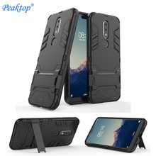 Shockproof Tough Rubber Hybrid Armor Coque Case Voor Nokia 5.1 6.1 7 Plus 2.1 1 7 8 Sirocco 3 8.1 7.1 9 Case Volledige Cover Case