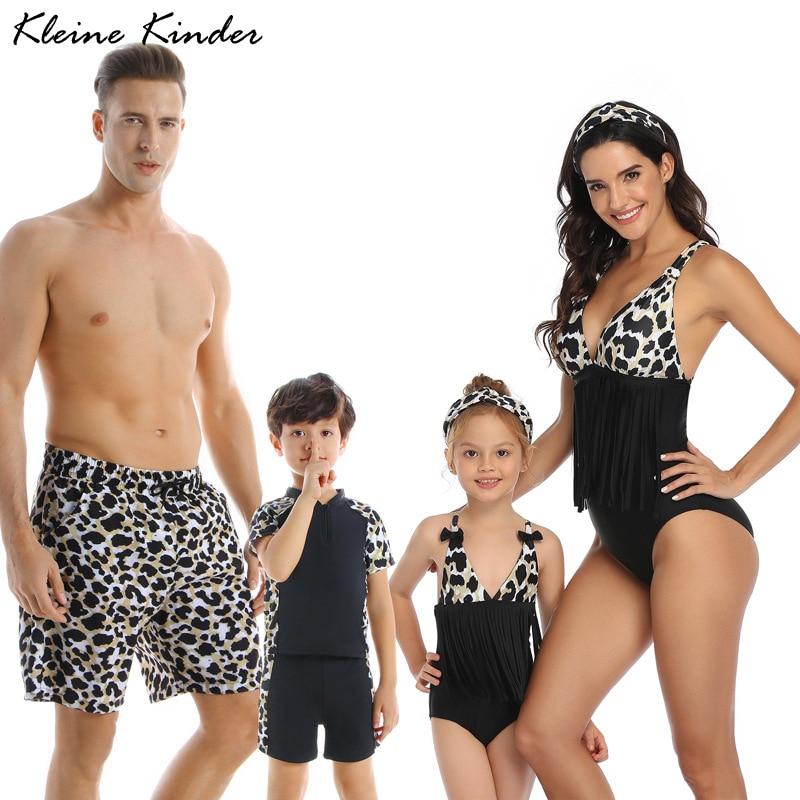 Family Matching Swimsuit Girls Boys Swimwear Mom Daughter Bikini Dad Son Swim Shorts Women Men Couples Bath Suits Beach Outfits