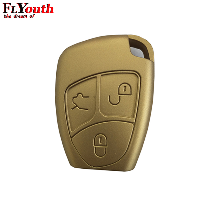 Car Silicone Key Cover Case Shell For Mercedes For Benz W203 W211 CLK C180 E200 AMG C E S Class Keyring Holder Accessories 1Pc