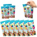 50 пакетов Cocomelon вечерние подарочные пакеты Cocomelon подарочные пакеты вечерние принадлежности для детей, милые рубашки для мальчиков Cocomelon тем...