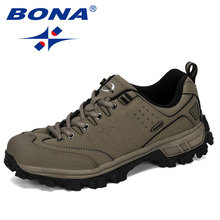 BONA 2019 New Designer Classics Style Men Hiking Shoes Comfo