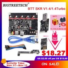 Плата управления BIGTREETECH BTT SKR V1.4 SKR V1.4 Turbo, 32 битная плата управления Wi Fi, запись, DC Запчасти для 3D принтера VS SKR V1.3 TMC2209 TMC2208