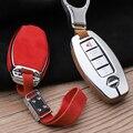 Чехол для автомобильных ключей из цинкового сплава с искусственным мехом для Nissan Qashqai J10 J11 X-Trail t31 t32 juke  чехол для ключей с автоматической защ...