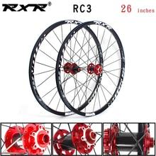 RXR горный велосипед внедорожный MTB карбоновый велосипед колесная 26 дюймов RC3 дисковый тормоз 5 подшипников 7-11speed Thru Axle/QR Велосипедное колесо