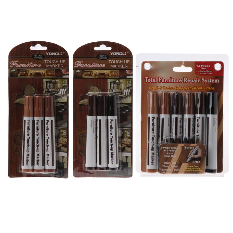 Wood Repair System Kit Filler Sticks Touch Up Marker Floor Furniture Scratch Fix 1