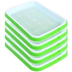 Seed Sprouter Tray 5 Pack  BPa Free kiełkownik kiełkownica do nasion zdrowe nasiona trawy pszenicznej hodowca i tace do przechowywania Garde w Doniczki do sadzonek od Dom i ogród na
