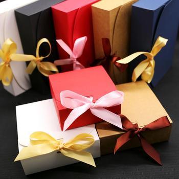 Pudełka na prezenty ze wstążką pudełka na prezenty ślubne pudełka na prezenty dla dzieci pudełka na prezenty 10 sztuk partia tanie i dobre opinie GPWD 10pcs Tektura NONE A-255 Ślub i Zaręczyny Birthday party Dzień dziecka Chiński nowy rok THANKSGIVING CHRISTMAS
