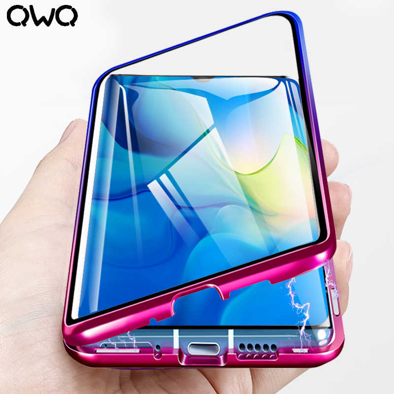 360 Magnetic Adsorption Case For Huawei P30 Pro P20 Lite Case P Smart 2019 Shockproof Cover Mate 10 20 Tempered Glass Back Cover