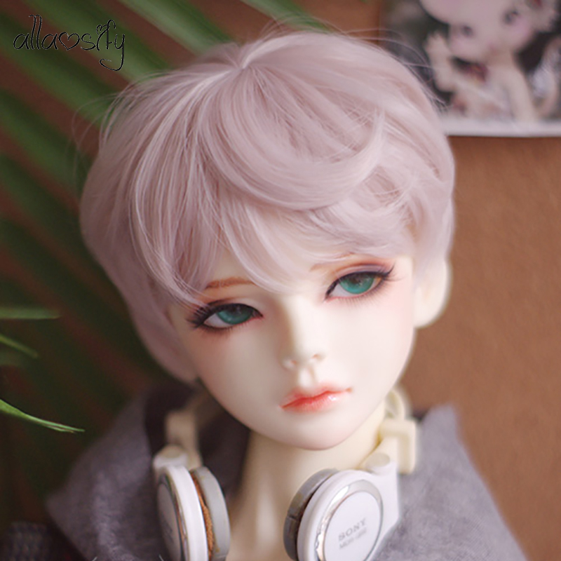 Allaosify BJD Wig 100% High Quality High Temperature Fiber Fashion Short Hair SD Wig Three Colors To Choose From 1/3 1/4