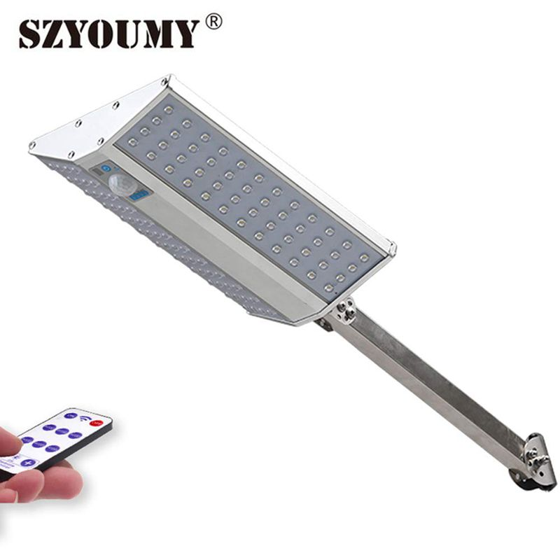 SZYOUMY 96 LED Solar Light Outdoor Waterproof 6 Mode Double Sided Solar Motion Sensor Garden Light With Remote Control