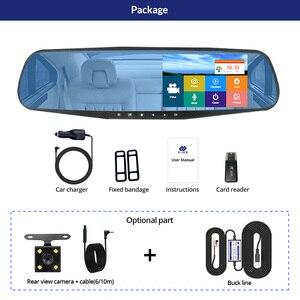 Image 5 - E ACE carro dvr traço cam 4.3 Polegada toque fhd 1080p espelho retrovisor gravador de vídeo lente dupla auto registrador com câmera visão traseira