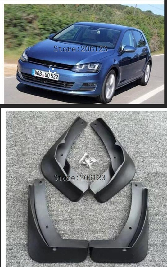 Mud Flaps For Volkswagen <font><b>VW</b></font> Golf 7 Mk7 VII 2013 2014 2015 2016 <font><b>Mudflaps</b></font> Splash Guards Front Rear Mud Flap Mudguards image
