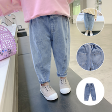 MudiPanda Girls Jeans for Kids Spring Autumn Trousers Children Jeans Kids Fashion Denim Pants Baby Boys Jean Infant Clothing cheap Casual CN(Origin) Fits true to size take your normal size 52004 Zipper Fly Unisex Paisley LOOSE 80-130cm 3-8 years old