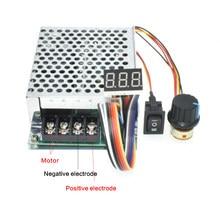 Contrôleur de vitesse de moteur PWM 12V 24V 48V 100% W MAX 60A réversible, affichage numérique 0 ~ 2000 réglable, 10-50V 40A DC