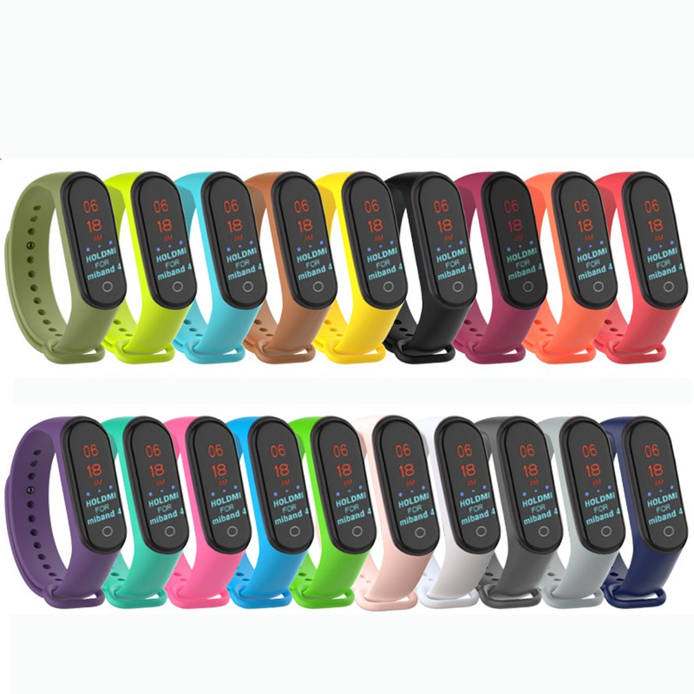 Fashion For Xiaomi Mi Band 4 Replacement Sport Silicone Strap Wristband Bracelet Two-Tone Replacement Strap
