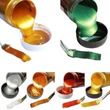60ml Gold Farbe Metallic acryl farbe, wasserdicht nicht verblasst für Statuen Färbung DIY hand kleidung gemalt graffiti Pigmente
