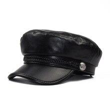 Women Newsboy Hat Cap Visor Beret Hats PU Leather Gatsby Cabbie Painter Pageboy