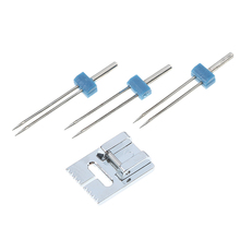 Presser-Foot Sewing-Machine-Parts Pintuck Househeld-Tools Double-Twin-Needles 1set