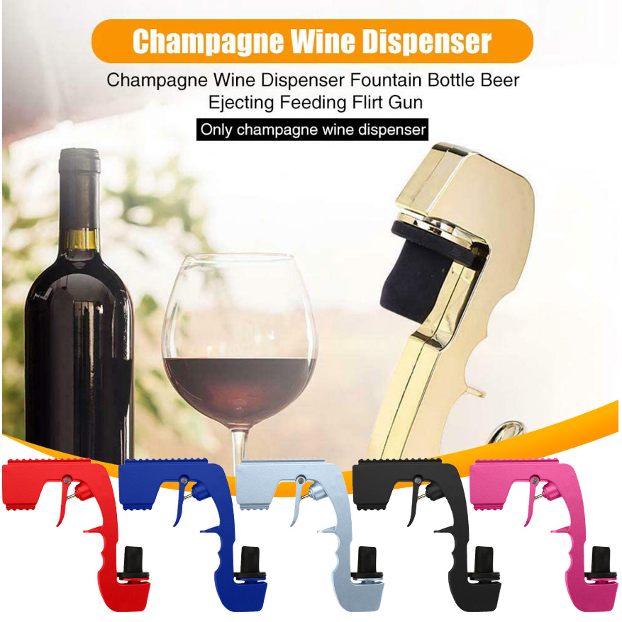 Industrial and Commercial Supplies Second-generation Champagne Wine Sprayer Pistol Bottle Durable Sprayer KTV  Bar Party 1