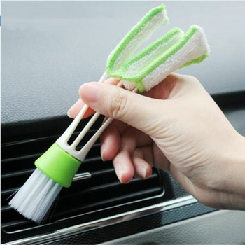 2021 Double Ended Car Cleaning Brush Air Conditioner Vent Slit Clean Brush Detailing Dust Removal Blinds Keyboard Duster Brush image