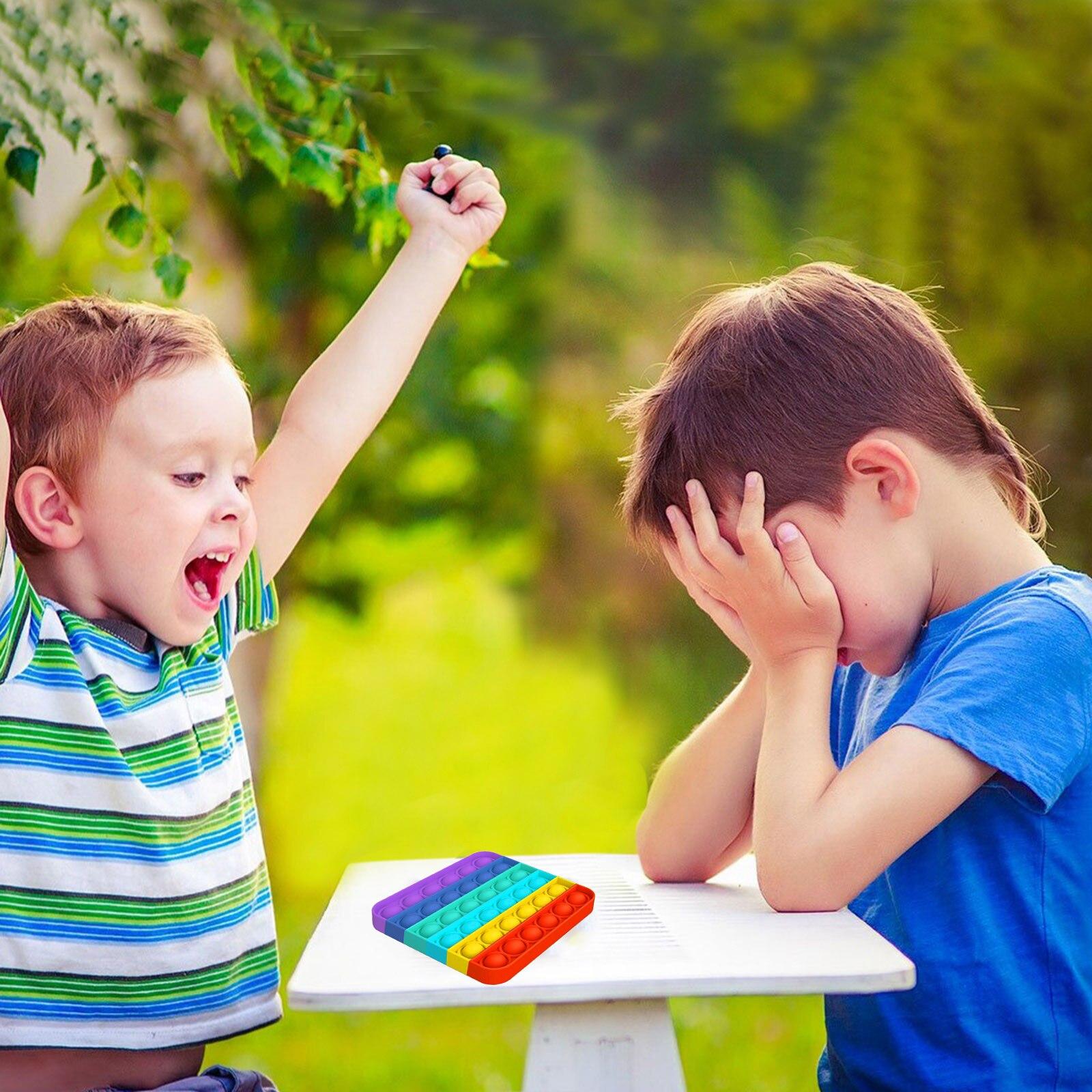 Toys Adult Fidget Stress Bubble-Sensory Funny Pops-It Poppit Squishy Push Reliver Child img3