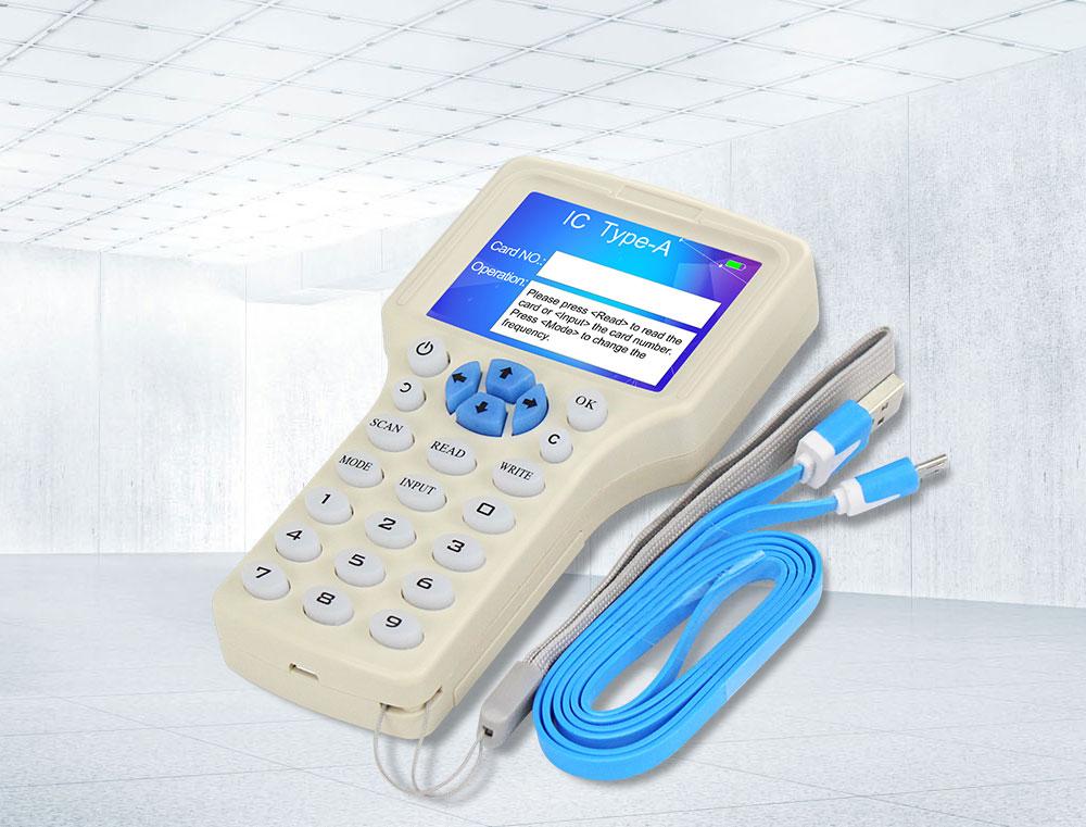 H90e995e71abb454d9a2e816047a2cc128 10 English Frequency RFID Copier Duplicator 125KHz Key fob NFC Reader Writer 13.56MHz Encrypted Programmer USB UID Copy Card Tag