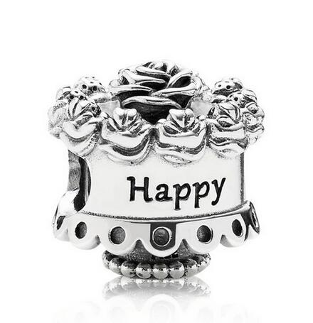 Excellent Original 925 Sterling Silver Bead Happy Birthday Rose Cake Charm Birthday Cards Printable Opercafe Filternl