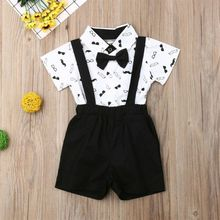 Baby Boy Tuxedo Outfit Romper Clothes