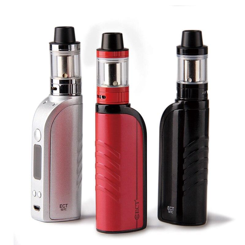 ECT 50W Box Mod Starter Kits Huge Smoke 3.0ml Tank 2200mAh Battery Vape Pen Kit Electronic Cigarette Vaporizer Vs SUB TWO Vape