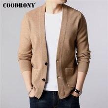 Бренд COODRONY, мужской свитер, уличная мода, свитер, пальто для мужчин с карманами, Осень-зима, теплый кашемировый шерстяной кардиган, мужской 91105