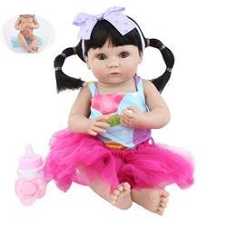 40 см мягкие силиконовые Reborn Baby Doll игрушки Реалистичные Полный винил новорожденные младенцы кукла для девочки Boneca ребенок Рождественский