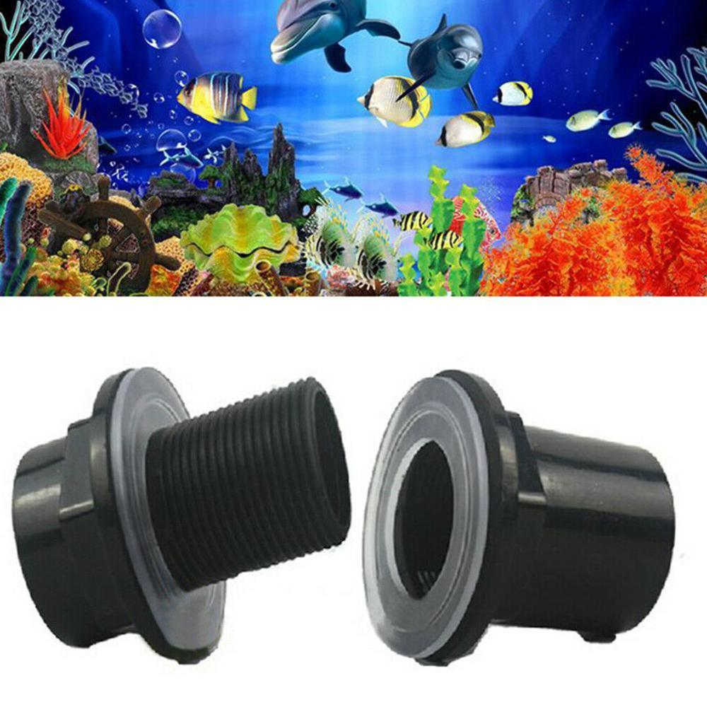 20/25/32/40 / 50mm black fish tank fittings special plastic PVC waterproof pipe upper and lower water pipe fitting image