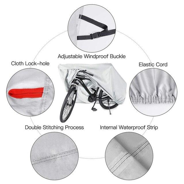 Couverture de vélo imperméable à leau robuste XL vélo couvre UV pluie neige poussière pour montagne route vélo électrique stockage extérieur