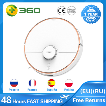 360 S7 Laser Navigation Robot Vacuum Cleaner with SLAM Route Planning 2000Pa Suction Mopping Off-limit Setting