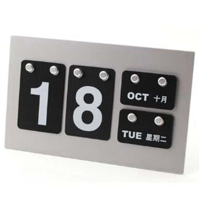 Wall Mini Silver Day Calendar Planner Organizer Office Beach Wall Block Desk Table Calendars Decorative Sign Family