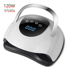 120W SUN X9 Max UV LED Nail Lamp Nail Dryer 57 LEDs Manicure Lamp Pedicure Dry All Nail Gel Polish 10S 30S 60S 99S Nail Dryer