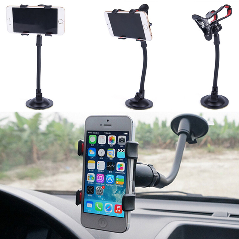 360 Degree Car Phone Holder Sticker Windshield Holder For Samsung Galaxy Clip Fold Dashboard GPS Phone Holder Stand Mount Xiaomi