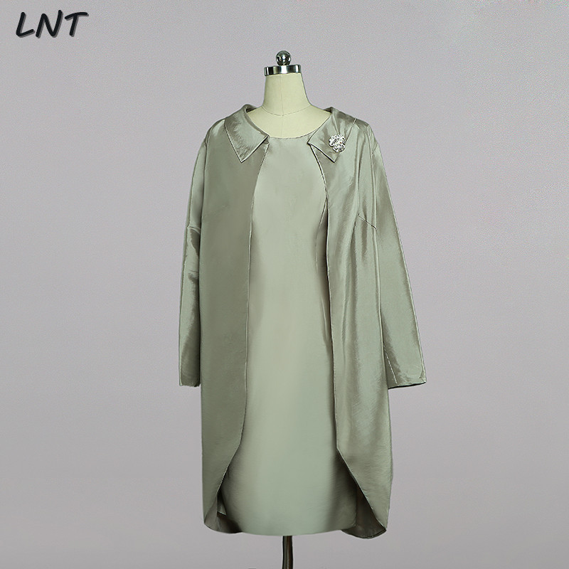 Mother of the Bride Dress Long Sleeves Jacket Set Wedding Guest Dress