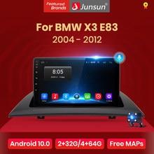 Junsun – Autoradio multimédia V1 Pro, pour BMW X3 E83 (2004-2012), 2 DIN, lecteur vidéo avec navigation GPS, Android 10, 2 Go + 128 Go, DVD