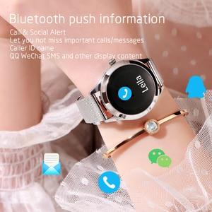 Image 2 - KW10 IP68 Waterproof Smart Watch Women Heart Rate Tracker Sport Smartwatch Fitness Bracelet Connect Android IOS KW20 smartband