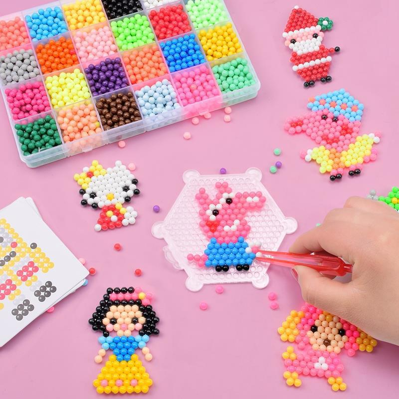 Handmade Diy Beaded Creative Toys Water Mist Magic Beads Spell Bean Nail Board Set Children Puzzle Water Mist Magic Stick Toy